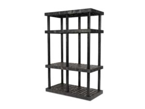 DuraShelf 4-Shelf Adjustable Grid Top 48x24 72 H Angle