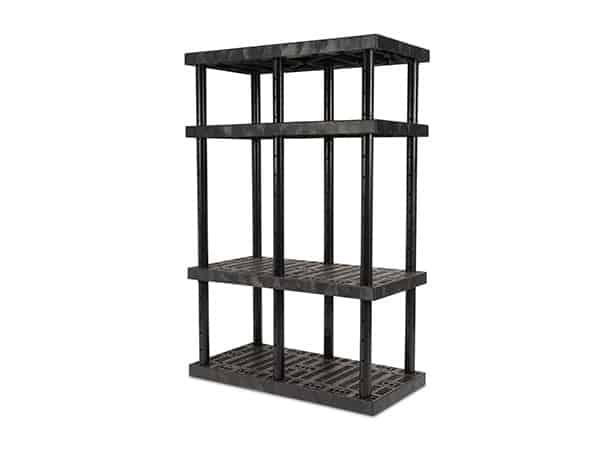 DuraShelf 4-Shelf Adjustable Grid Top 48x24 72 H Angle