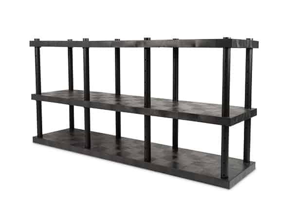 DuraShelf 3-Shelf Adjustable Solid Top 96x24 48 Angle