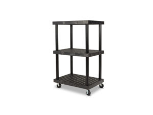 Mobile DuraShelf 36x24 51 3-Shelf System Angle