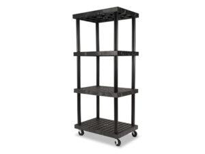 Mobile DuraShelf 36x24 75 4-Shelf System Angle