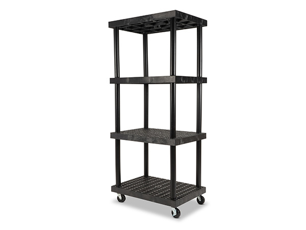 Mobile DuraShelf 36x24 75 4-Shelf System Angle