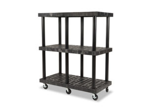 Mobile DuraShelf 48x24 51 3-Shelf System Angle