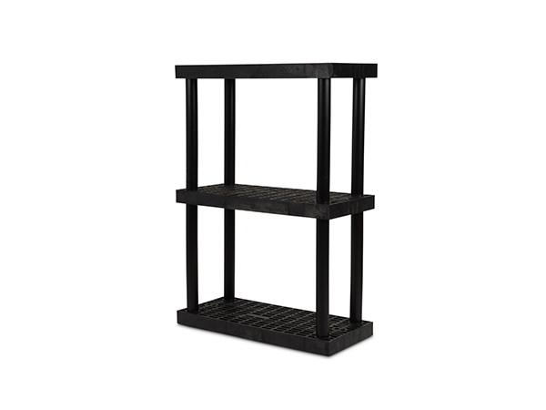 DuraShelf Grid Top 36x16 51 3-Shelf System Angle