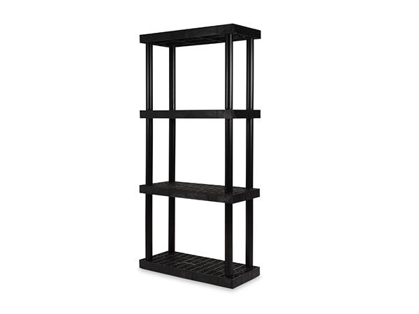 DuraShelf Grid Top 36x16 75 4-Shelf System Angle