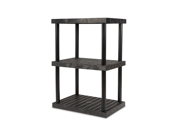 DuraShelf Grid Top 36x24 51 3-Shelf System Angle