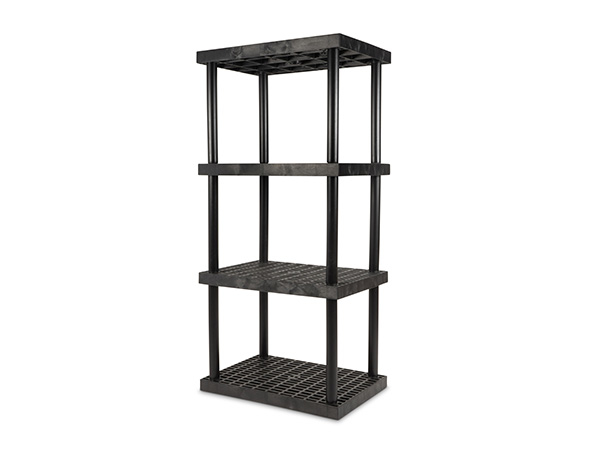 DuraShelf Grid Top 36x24 75 4-Shelf System Angle