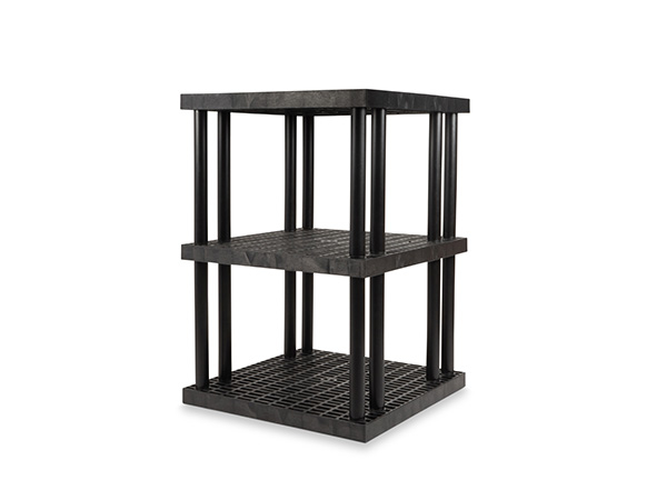 DuraShelf Grid Top 36x36 51 3-Shelf System Angle