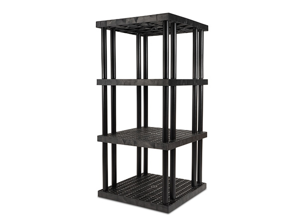 DuraShelf Grid Top 36x36 75 4-Shelf System Angle