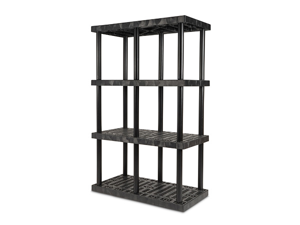 DuraShelf Grid Top 48x24 75 4-Shelf System Angle