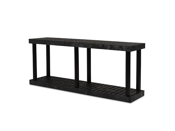 DuraShelf Grid Top 66x16 27 2-Shelf System Angle