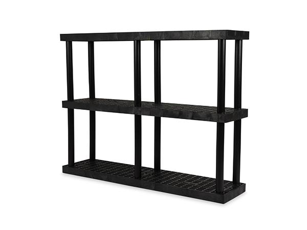 DuraShelf Grid Top 66x16 51 3-Shelf System Angle
