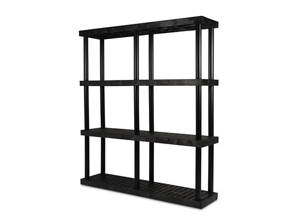 DuraShelf Grid Top 66x16 75 4-Shelf System Angle