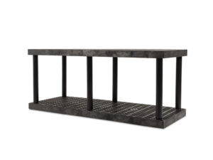 DuraShelf Grid Top 66x24 27 2-Shelf System Angle