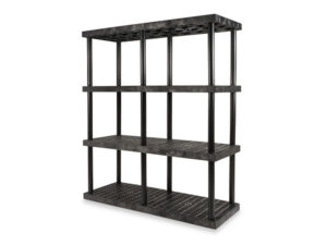 DuraShelf Grid Top 66x24 75 4-Shelf System Angle