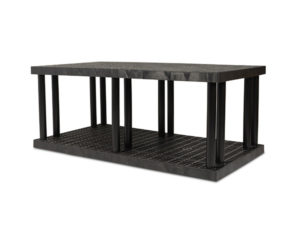 DuraShelf Grid Top 66x36 27 2-Shelf System Angle