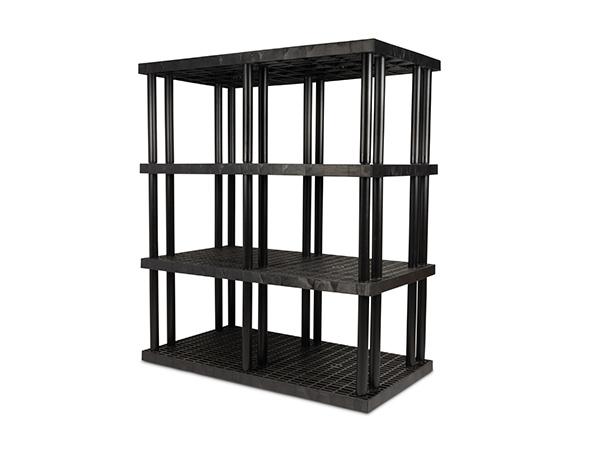 DuraShelf Grid Top 66x36 75 4-Shelf System Angle