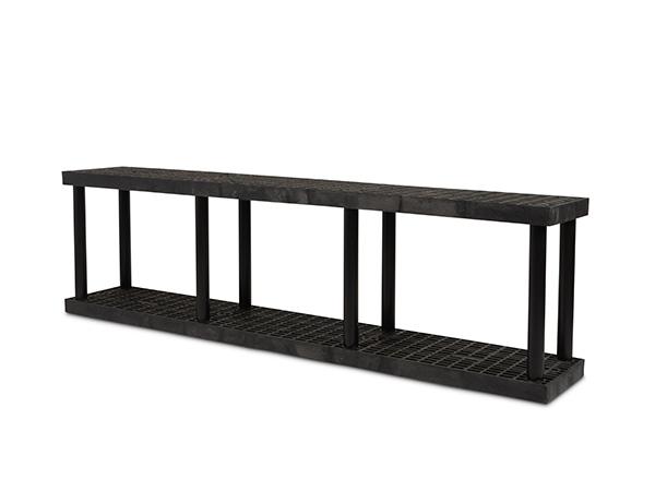 DuraShelf Grid Top 96x16 27 2-Shelf System Angle