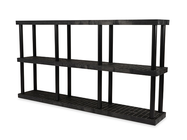 DuraShelf Grid Top 96x16 51 3-Shelf System Angle