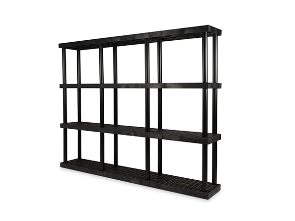 DuraShelf Grid Top 96x16 75 4-Shelf System Angle