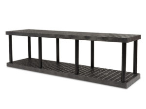 DuraShelf Grid Top 96x24 27 2-Shelf System Angle