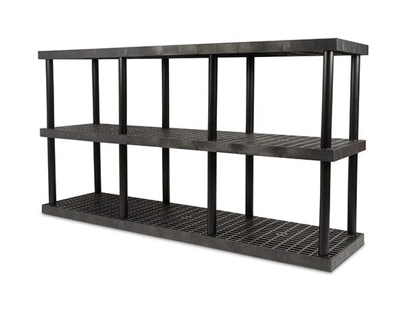 DuraShelf Grid Top 96x24 51 3-Shelf System Angle