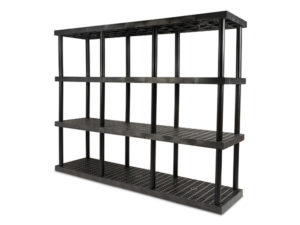 DuraShelf Grid Top 96x24 75 4-Shelf System Angle