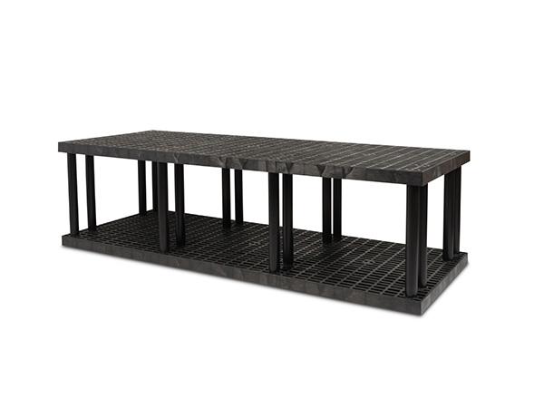 DuraShelf Grid Top 96x36 27 2-Shelf System Angle