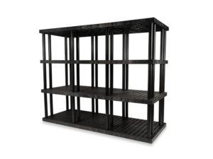 DuraShelf Grid Top 96x36 75 4-Shelf System Angle