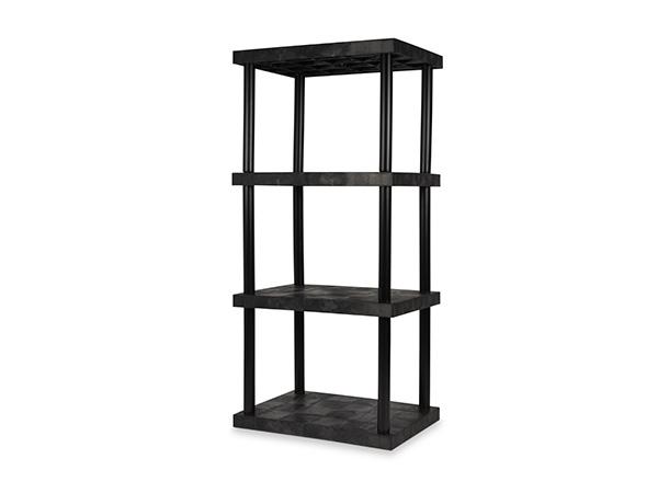 DuraShelf Solid Top 36x24 75 4-Shelf System Angle