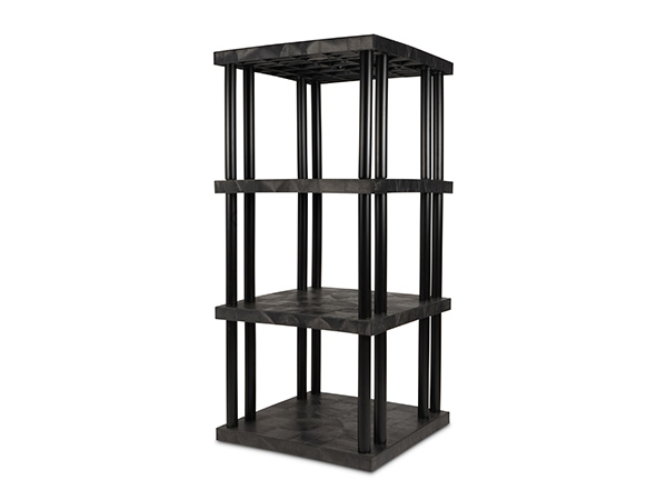 DuraShelf Solid Top 36x36 75 4-Shelf System Angle