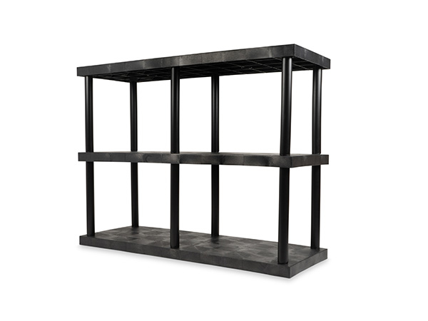 DuraShelf Solid Top 66x24 27 2-Shelf System Angle