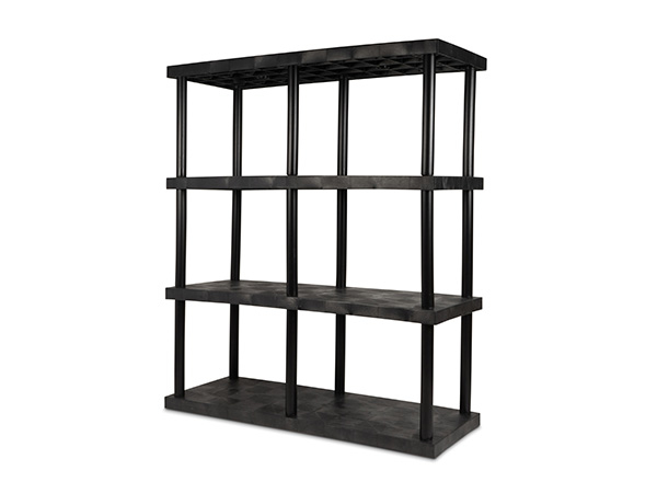 DuraShelf Solid Top 66x24 75 4-Shelf System Angle
