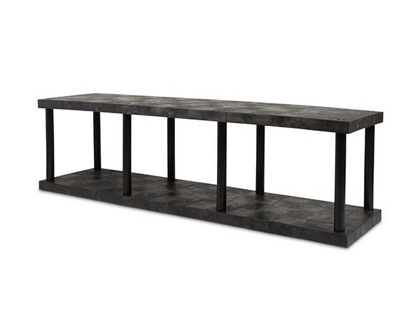 DuraShelf Solid Top 96x24 27 2-Shelf System Angle