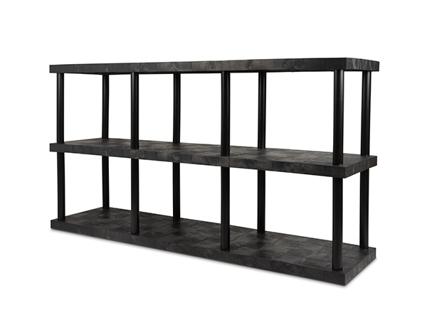 DuraShelf Solid Top 96x24 51 3-Shelf System Angle