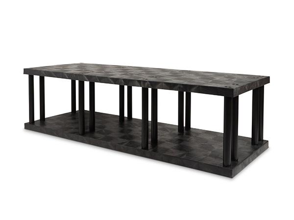 DuraShelf Solid Top 96x36 27 2-Shelf System Angle