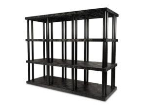DuraShelf Solid Top 96x36 75 4-Shelf System Angle
