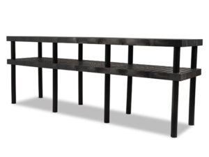 Work-Bench Grid Top 2 Shelf 96x24 Angle