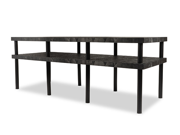 Work-Bench Grid Top 2 Shelf 96x36 Angle