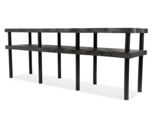 Work-Bench Solid Top 2 Shelf 96x24 Angle