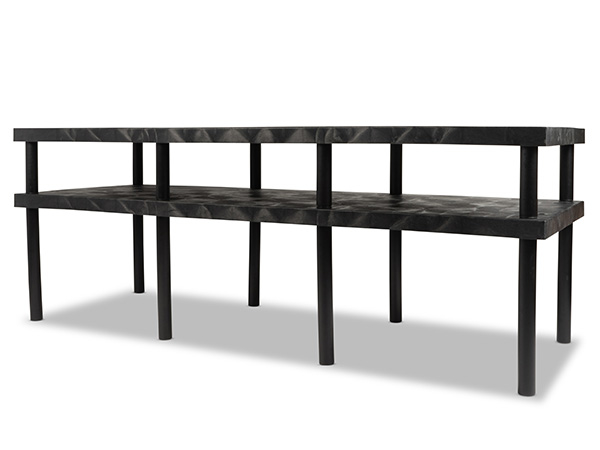 Work-Bench Solid Top 2 Shelf 96x36_Angle